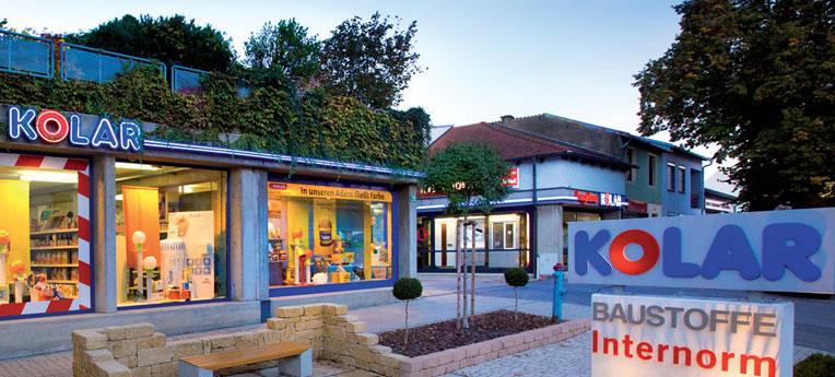 Standort-Ausgabe KOLAR Baustoff GmbH <br>(BAUSTOFFE + PROFI-FACHMARKT)