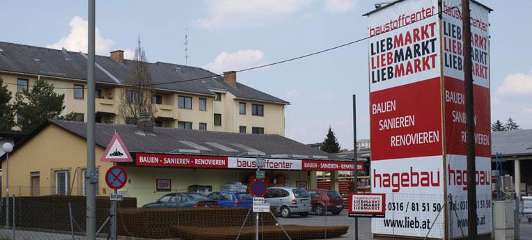 Standort-Ausgabe Lieb Markt GmbH <br>(Ndl. Graz Baustoffe)