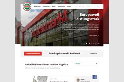 Bild zu www.hagebau.com neu ausgerichtet
